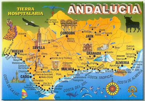 Andalusia Road Map The Kingdom Of This World Travel To Andalucia: Detailed Map Of Andalucia Spain At Infoasik.co