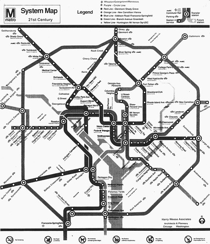 Conceptual map for WMATA expansion, c. 1990