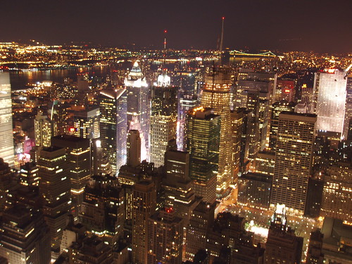 "428: Night time New York Skyline from the Empire State Building | by archers30 - ""thanks for all the fish"""