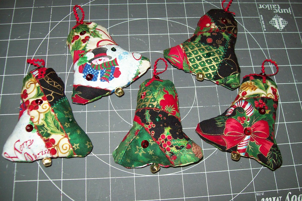 Quilted Christmas Ornaments Quilted Christmas Tree Ornamen Flickr
