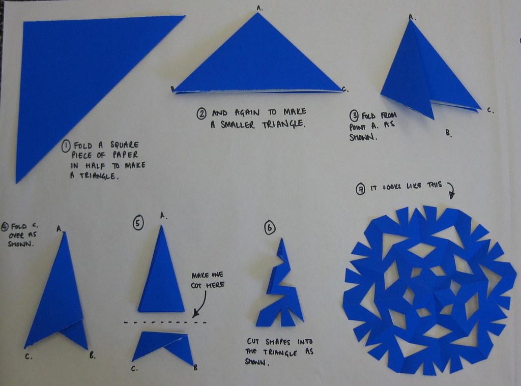 Как сделать снежинки из бумаги цветная
