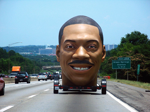 eddie murphy's giant head on the interstate | by wereswan