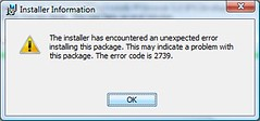 Installer Error 2739 | by ManiacD