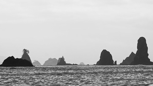 Black and White Sea Stacks | by lopolis