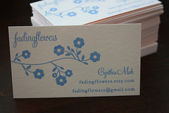 Gocco Business Cards 1 | by fadingflowers