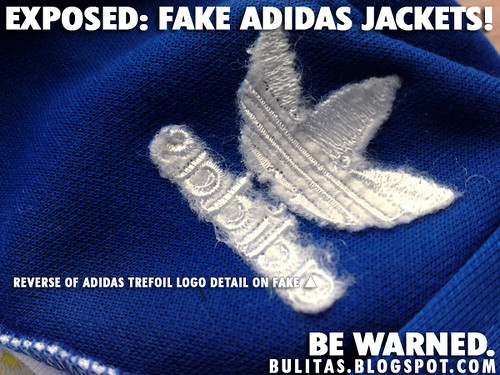 Fake Jacket Reverse Side Adidas Logo Stitching Detail Flickr