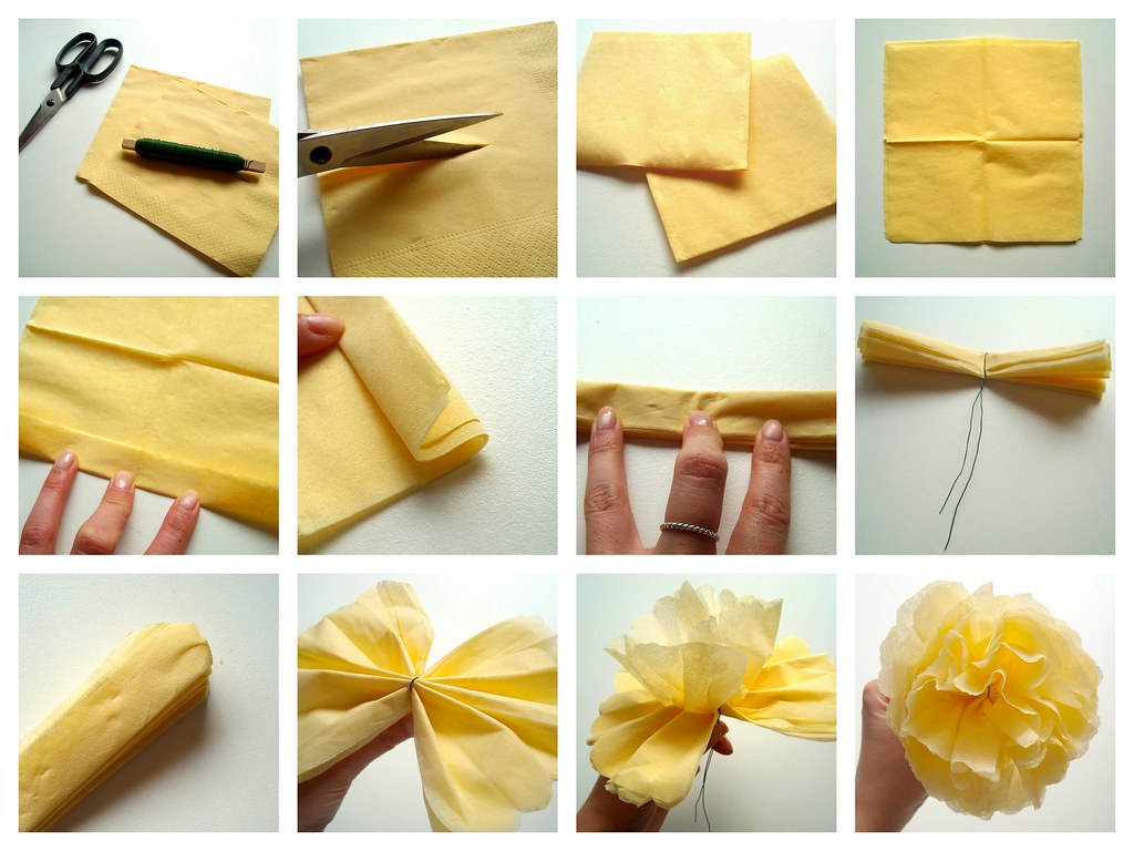 Paper Napkin Flower How To More Info Grossstadtprinzessin Flickr