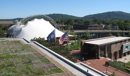 Charlottesville City Hall Green Roof View Of Montalto In