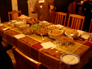 2008 Thanksgiving party - some of the food | by ixfd64