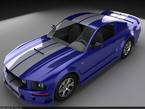 Ford Mustang 2008 Blue White | by bloggerknight