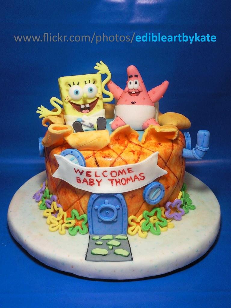 spongebob patrick baby shower cake front view coffee c u2026 flickr