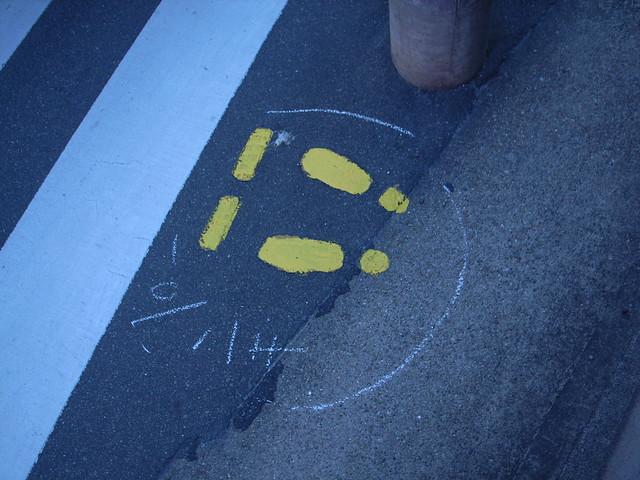 Footprint mark