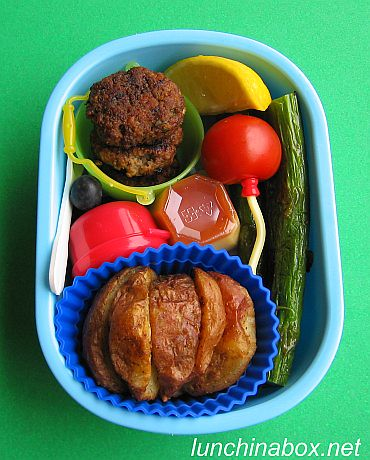 Burger & fries bento lunch for preschooler | by Biggie*