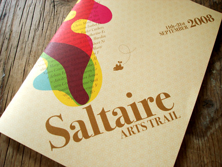 Saltaire Arts Trail 2008 brochure | by Studio MIKMIK