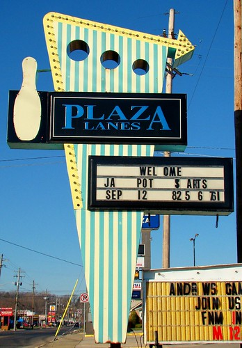 IN, Connersville-IN 1 Plaza Lanes Roadside Sign | by Alan C of Marion,IN