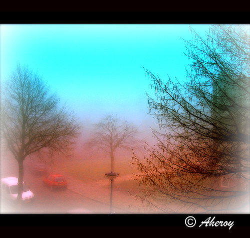 Fog in my Street 1,Groningen stad,the Netherlands,Europe. | by Aheroy