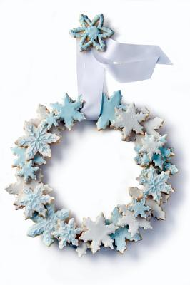 Snowflake Cookie Wreath (courtesy Washington Post) | by Contra Costa Times