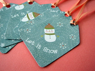 Let it Snow gift tags | by glamourfae