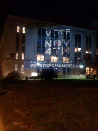 Vote for Change projected on Memorial Library | by sinneK_All