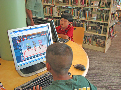 Children on the computers. | by San José Public Library