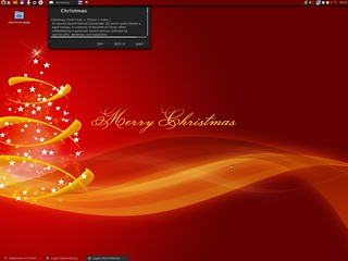 Linux christmas desktop | by Thomas Åsen