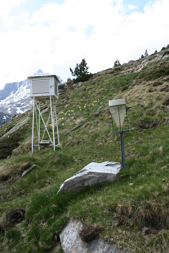 Stevenson Screen and Rain Gauge at Refuge d'Espingo, French Pyrenees | by Richard Allaway