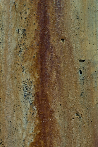 Rust Cement Wall : Texture rust stain and mineral deposits on concrete wall