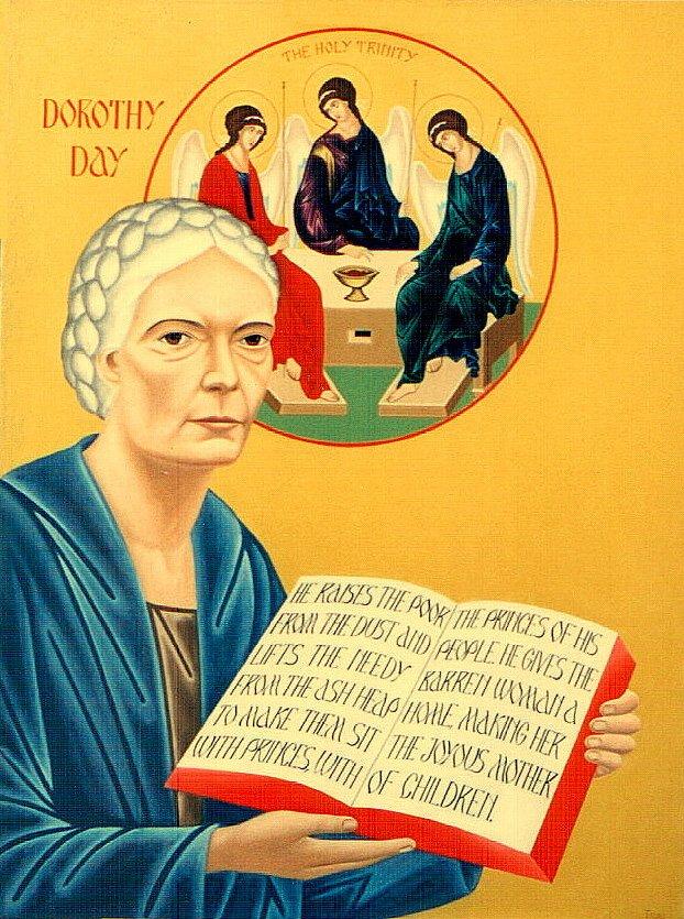 Dorothy Day icon by Nicholas Tsai