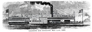 "Louisville and Cincinnati mail packet steamer ""Jacob Strader"" 