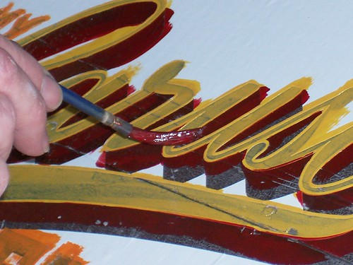 "How to paint ""antique"" lettering 
