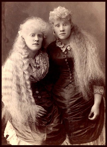 THE LONG HAIRED ALBINO BABES OF BARNUM'S BIZARRE BAZAAR -- Florence and Mary Martin | by Okinawa Soba (Rob)