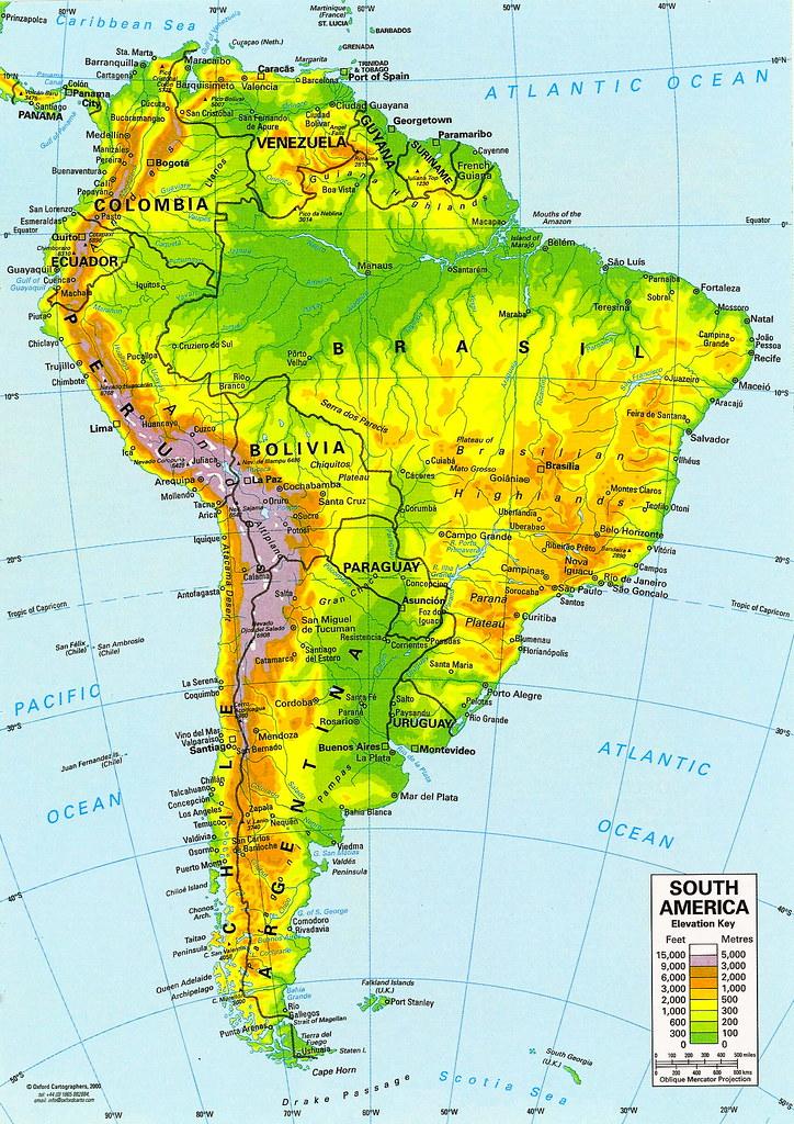 Mapa De America Del Sur Sudamerica Suramerica Mapa Da America Do Sul