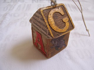 A Funky Primitive House Ornament | by HA! Designs - Artbyheather
