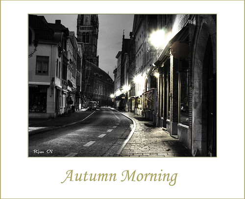 Autumn morning in Brugge Processed version of a photo I
