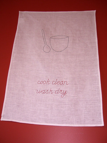 Stitched tea towel | by Spin Spin