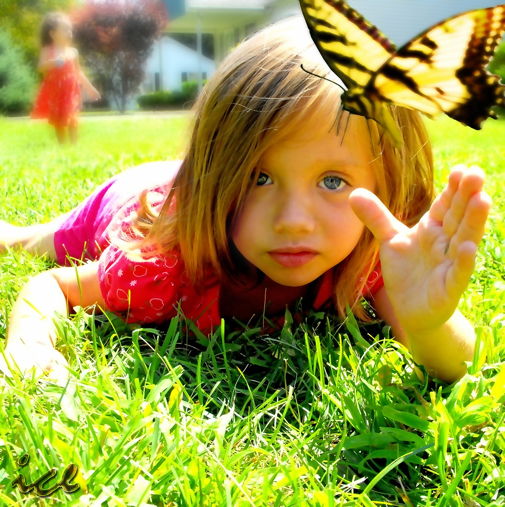 Amelia Catching Butterfly Over 11000 Views 251 Comments Flickr Lidia By Dr Freezo
