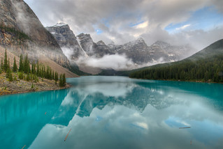 Moraine Lake from the Rockpile — HDR version | by etherflyer