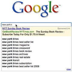 New York Times Ad In Google Search Suggest | by search-engine-land