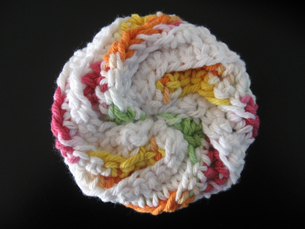 Spiral Scrubbie Milti Colored White Blogged About Here T Flickr