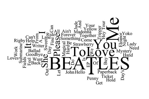 Word Cloud: Beatles UK Hit Singles 1962 -1970 | by Leo Reynolds