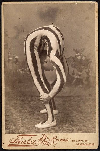 Contortionist, posed in studio | by George Eastman House
