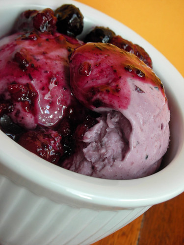 blueberry-sour cream ice cream | by awhiskandaspoon