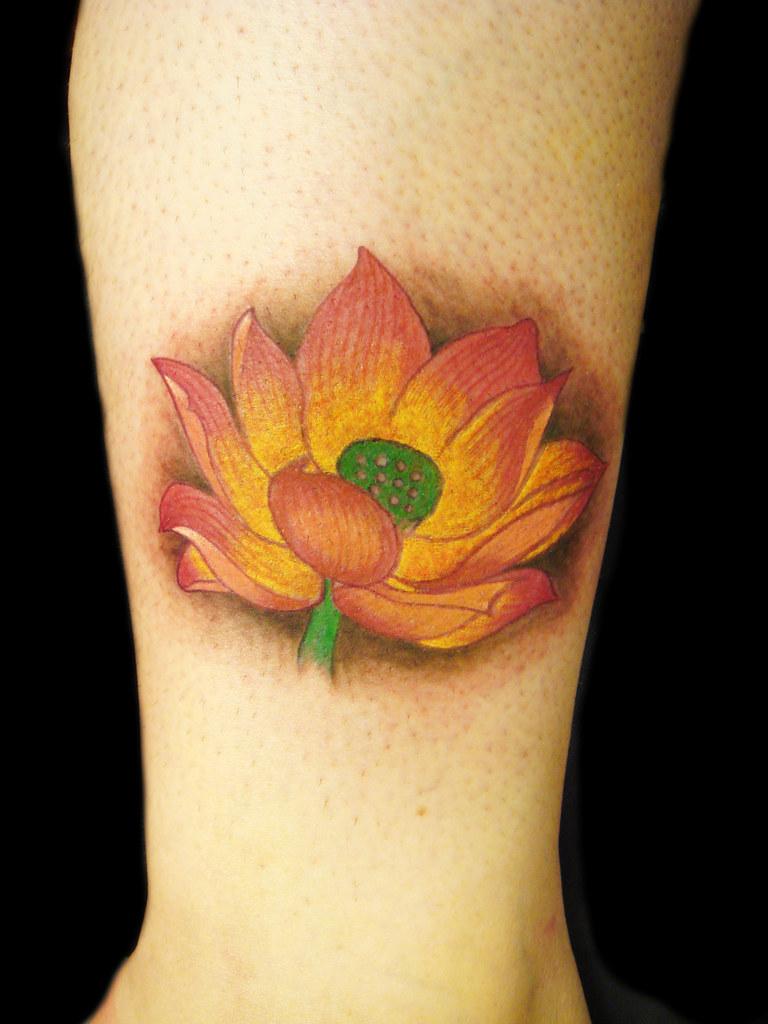 Lotus flower miguel angel custom tattoo artist miguela flickr lotus flower by miguel angel tattoo izmirmasajfo
