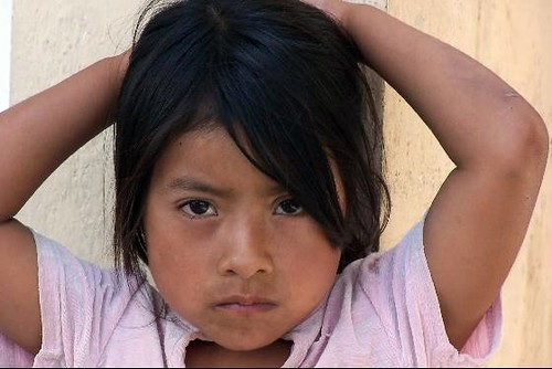 A Beautiful Little Mexican Girl  When We Stopped To Rest -9511
