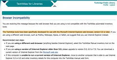firefox users go fuck yourselves, love OCLC & WebJunction & the Gates Foundation | by jessamyn
