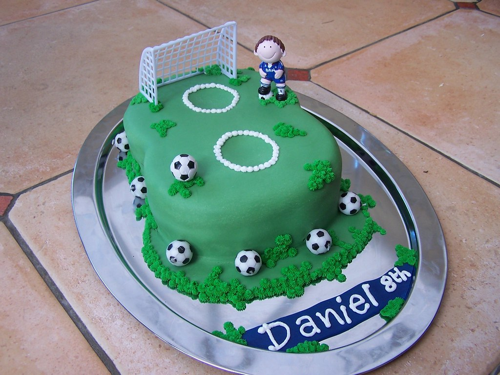 8th Football Birthday Cake Football birthday cake for an 8 Flickr