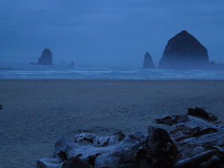 Cannon Beach, misty dawn | by 1newriver