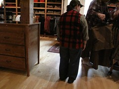Store employee in full Filson uniform | by Lesli Larson