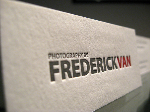 Frederick Van Letterpress Business Cards | by dolcepress