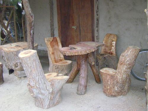 Muebles rusticos de troncos otra vista de comedor con - Muebles rusticos de campo ...